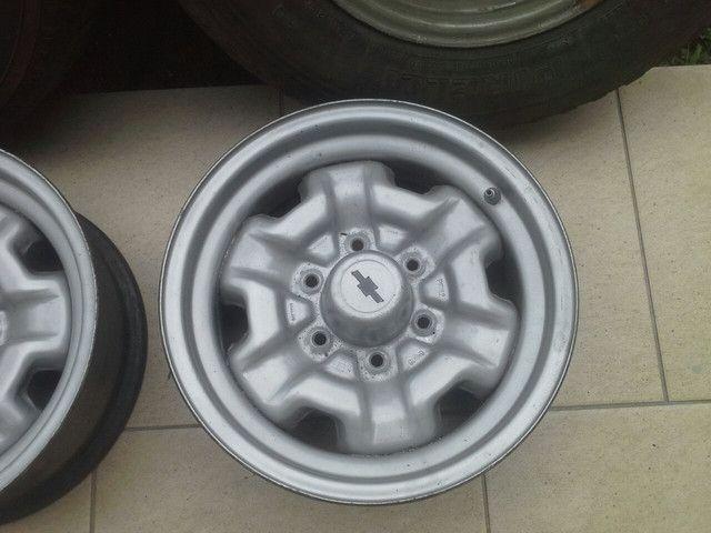Rodas ferro originais GM D20 D10 c14 c15 veraneio c10 c20 A20 - Foto 3
