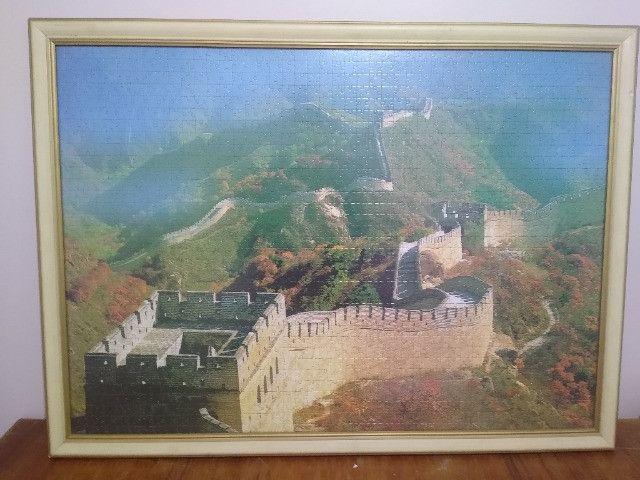 Quadro Quebra-cabeça Muralha da China - Foto 4