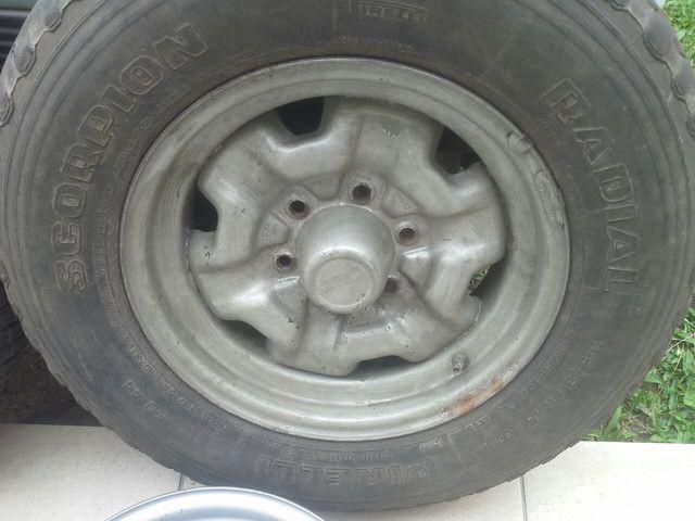 Rodas ferro originais GM D20 D10 c14 c15 veraneio c10 c20 A20 - Foto 5