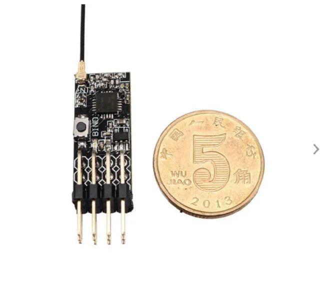 Receptor Compatível Com 2.4g 4ch Mini Frsky D8 Com Saída Pwm - Foto 3