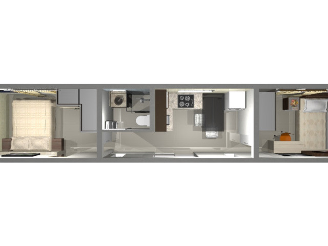 Casa container, pousada, kit net, plantao de vendas escritorio Pocos de Caldas - Foto 4