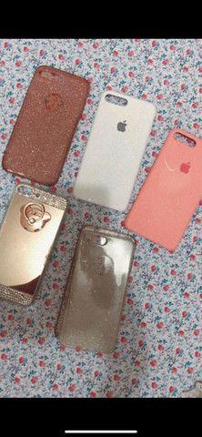 IPhone 7 Plus 32gb rose com acessórios novo - Foto 6