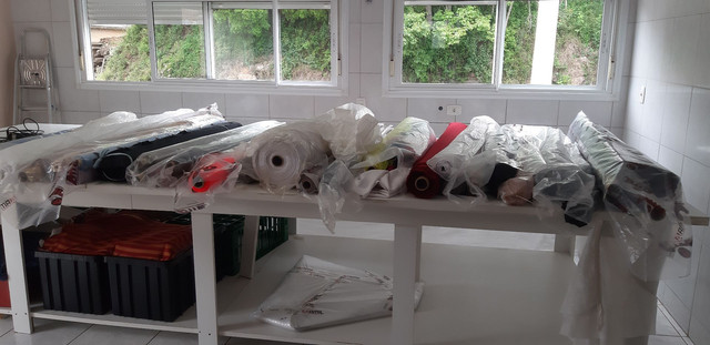 Saldo de tecidos para confecção