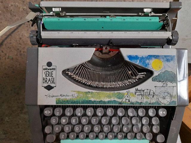 Máquina de escrever olivetti serie brasil 1992 - Foto 5