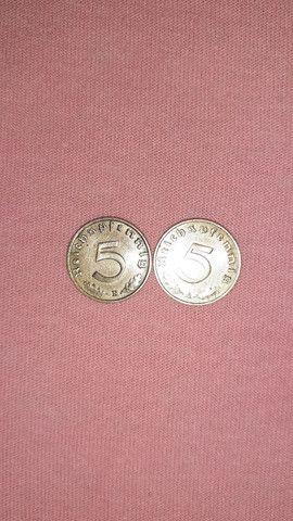 Vendo moedas vaticano 5,3copa,alemã 1938,valor 300 pila tudo - Foto 4