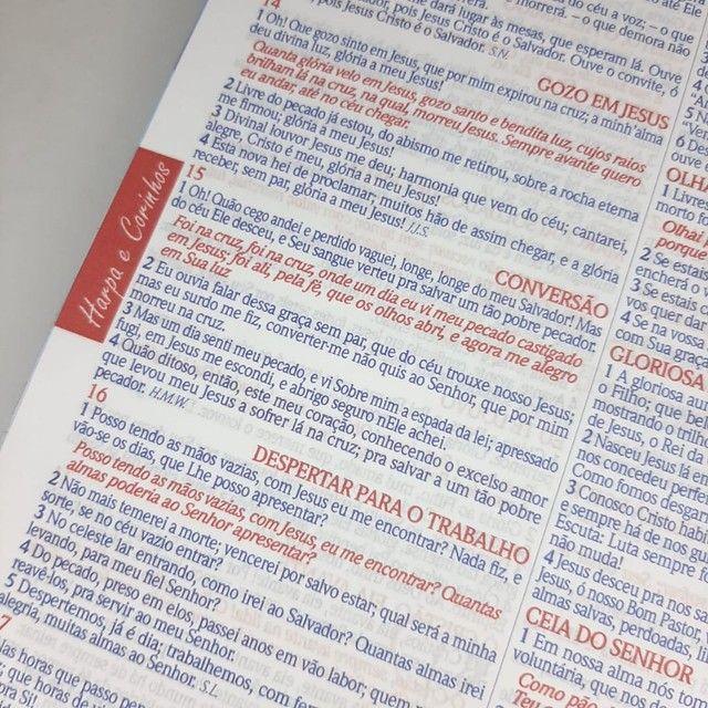 Bíblia Espiral Almeida de Anotações com Harpa - Foto 5
