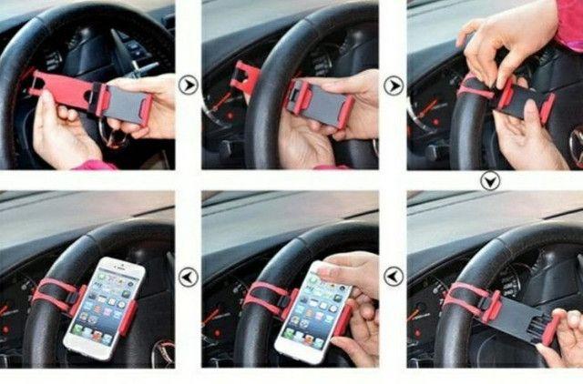 Suporte Celular p/ volante universal - Foto 2