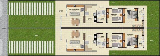 WG Moderna Casa, 2 dormitórios, 1 suíte, 2 banheiros, 3 vagas de garagens - Foto 4
