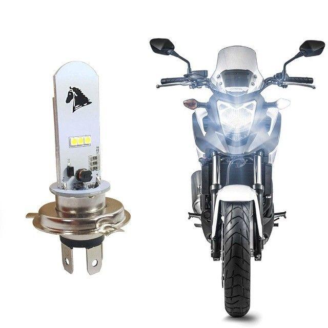 Lampada Led H4 Moto Efeito Xenon 8000k 125/160cc Universal