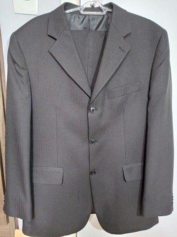 Terno masculino preto, tamanho M. - Foto 2