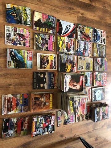 Coleção de revistas de carros e motos década 90