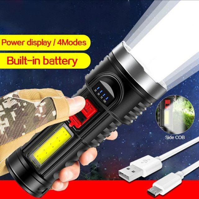 Lanterna Led Recarregável Claro Lateral Com Bateria Embutida - Foto 6