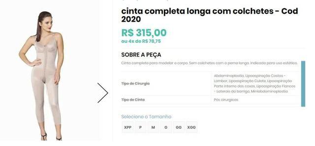 c226577ade4115 Macacão para lipoescultura / dia-a- dia