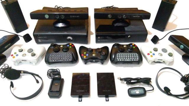 Acessórios Xbox 360 - Kinect, Controle, HD, Consoles, Fontes, Cabos
