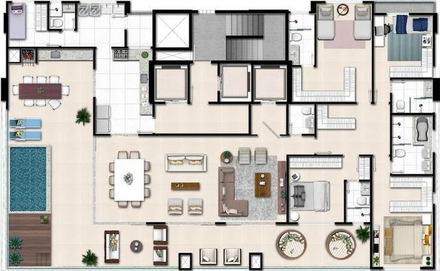 Apartamento de 3 quartos com 3 suítes no Setor Bueno - Foto 4