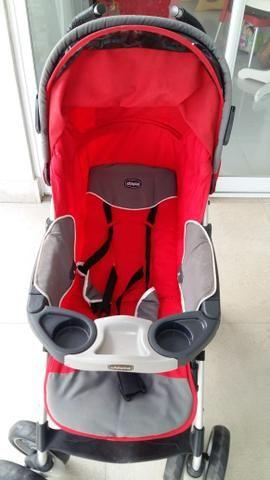 Vendo carrinho de bebê + bebê conforto + suporte para carro - Foto 2