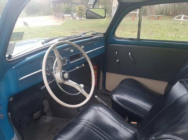 Fusca antigo 65 1965 azul relíquia - Foto 5