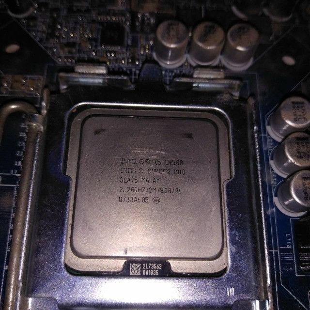 Kit computador Core2Duo +2gb ram +placa mãe socket 775 - Foto 2