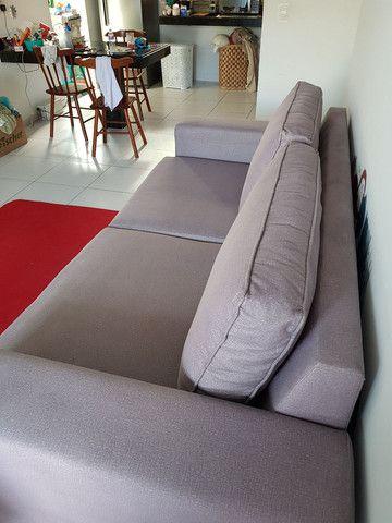 ABAIXOU!!! Vendo Sofá 3 lugares em tecido Sued - Foto 2