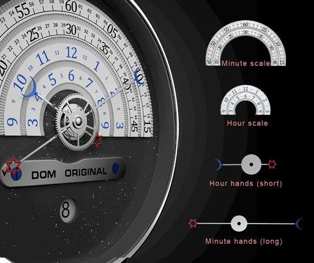 Dom M-1288 Relógio De Moda Masculina Criativa 3atm - Foto 4