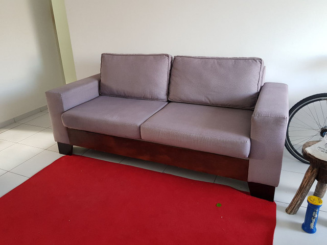 ABAIXOU!!! Vendo Sofá 3 lugares em tecido Sued