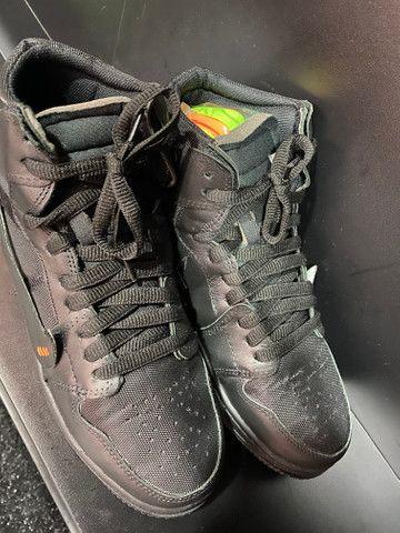 Tênis Nike Jordan off White preto 41 - Foto 3