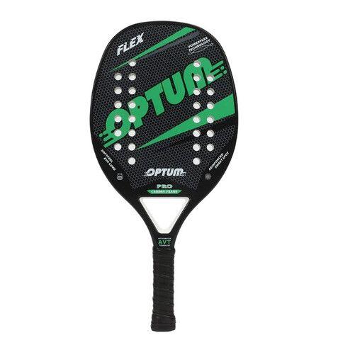 Raquete De Beach Tennis Optum Pro Flex 2020 - Carbon Frame - Preto e Verde - Foto 2