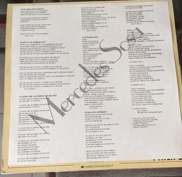 LP Vinil Mercedes Sosa 1982 - Foto 3