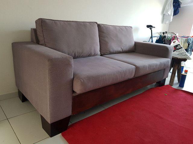 ABAIXOU!!! Vendo Sofá 3 lugares em tecido Sued - Foto 3