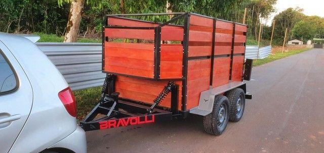 RO ' Reboque e carretinha duplo eixo BX 1.5 BRAVOLLI  - Foto 4
