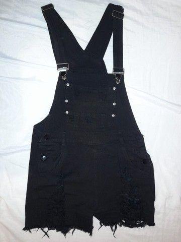 Shein | Macacão preto com bolsos