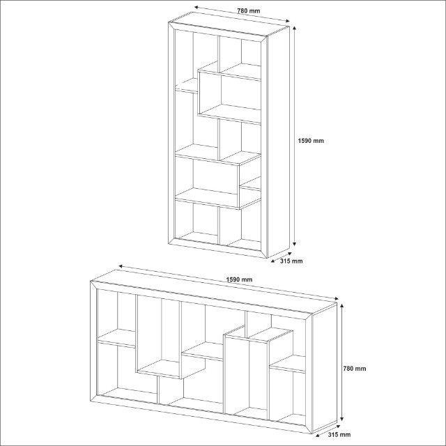 Estante Vertical/Horizontal - Pronta entrega - Foto 4