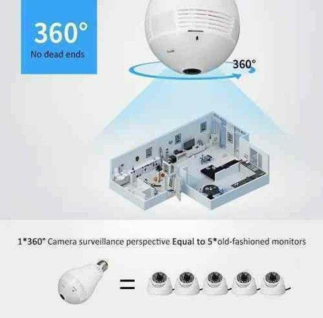 Lâmpada Espiã 360°??: Lâmpada Câmera Espiã Inteligente 360° - Foto 5