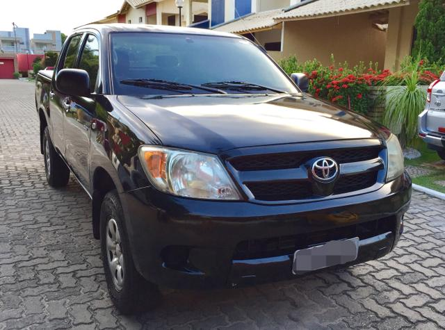 toyota hilux preta cabine dupla 2008 2008 2 5 4x4 diesel. Black Bedroom Furniture Sets. Home Design Ideas