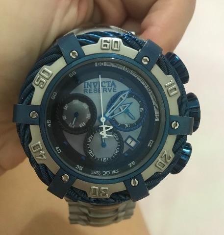 08af3e80e34 Relogio Bolt Zeus Prata Azul - Bijouterias