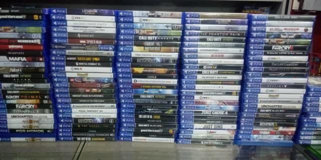 Jogos PS4, Xbox One, Xbox 360 e PS 3, a partir de R$30,00. Aceitamos jogos usados