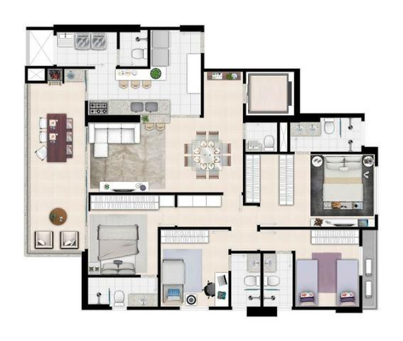 Apartamento de 3 quartos com 3 suítes no Setor Bueno - Foto 10
