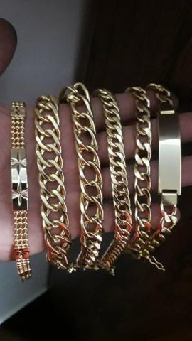 Moeda antiga correntes, pulseira - Foto 4
