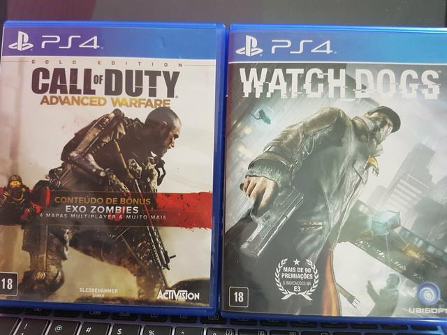 Jogos PS4 Call of Dutty Watch dogs The order