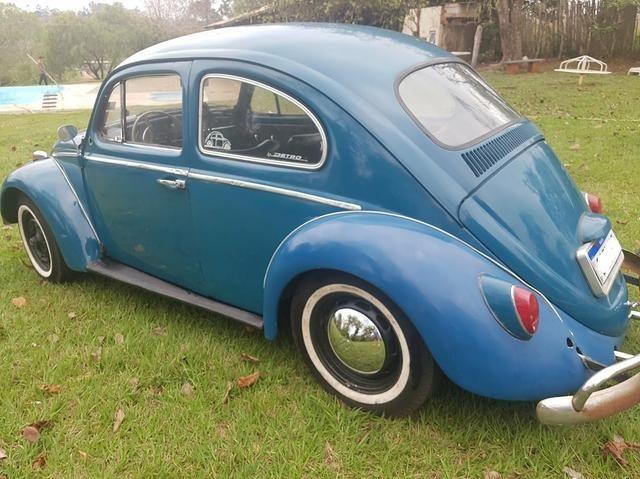 Fusca antigo 65 1965 azul relíquia - Foto 8