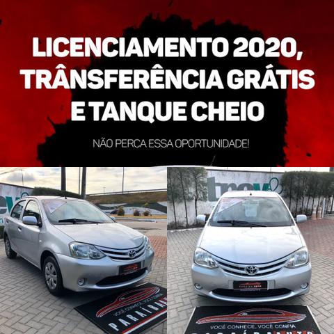 Toyota Etios 1.3 X - 2013 Completo - Paraíba Auto