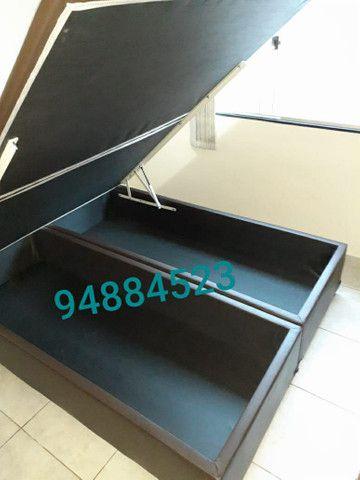 Box baú (158×198×41)queen size bi partido direto da fábrica.  - Foto 4