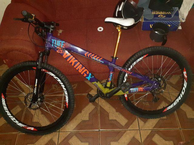 Bike aro26 vinkingx semi nova - Foto 6