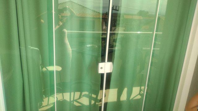 Porta blindex 4 folhas + pantográfica sanfona 2,10/2m - Foto 5