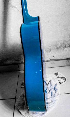 Violão Kashima azul (tamanho médio) - Foto 4