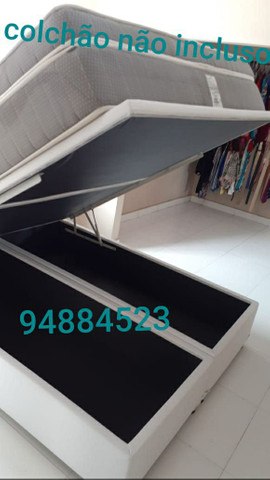 Box baú (158×198×41)queen size bi partido direto da fábrica.  - Foto 2
