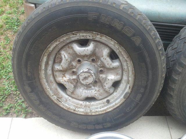 Rodas ferro originais GM D20 D10 c14 c15 veraneio c10 c20 A20 - Foto 4