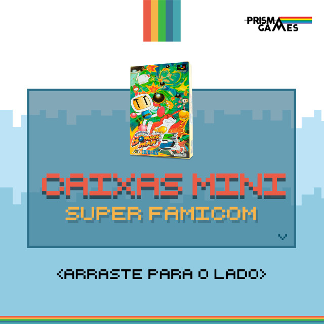 Caixa Mini Para Jogos - Super Famicom
