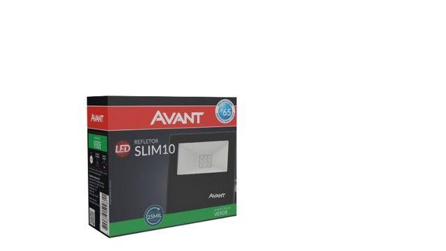 Refletor LED 10w Bivolt Avant completo primeira linha  - Foto 2