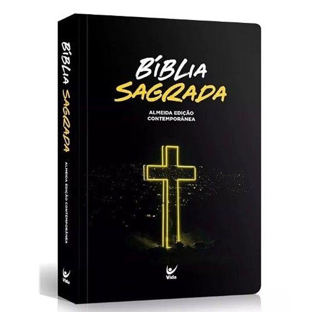 Bíblia Sagrada   Modelo Slim   Capa Semi-luxo - Foto 3